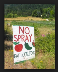 no spray eat local food